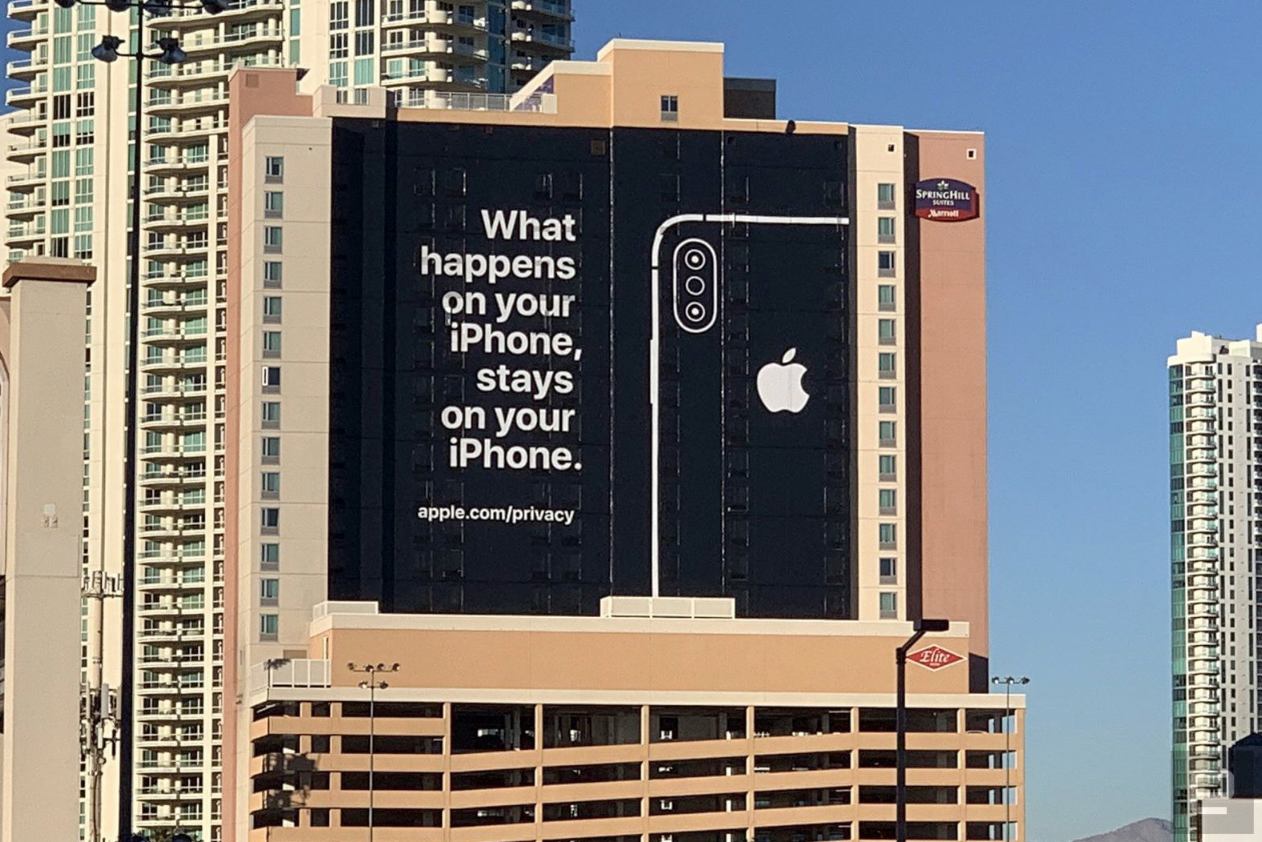 Apple Privacy Banner for CES